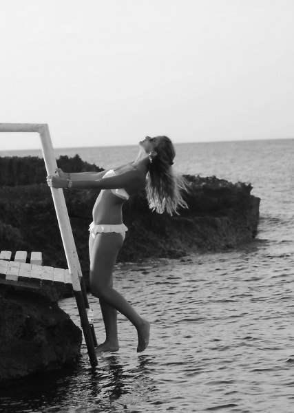 Moda, mare, bianco e nero, foto,
