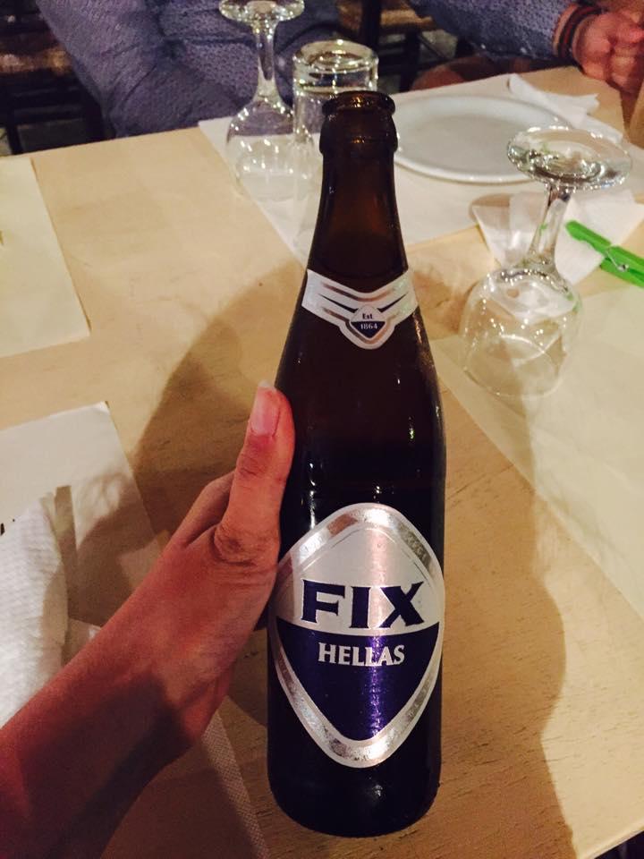 Birra greca Fix, Grecia, Diario di viaggio,